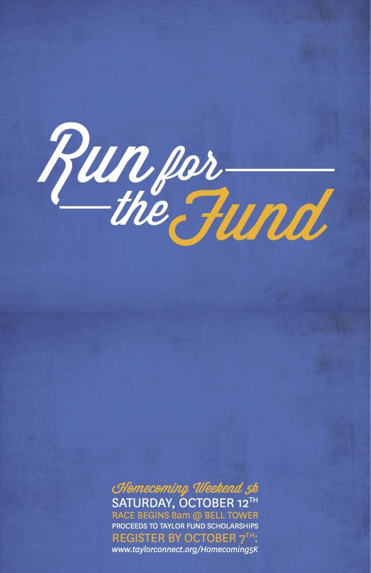 Poster for the Taylor Fund annual 5K rac