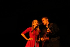 """Students sing """"Jackson"""" by Johnny Cash and June Carter."""