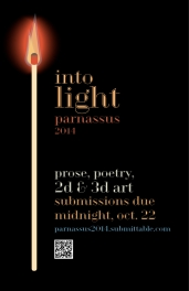 Poster advertising opportunity to submit to Taylor University's art and literary journal.