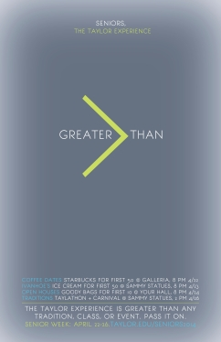 Greater > Than Poster